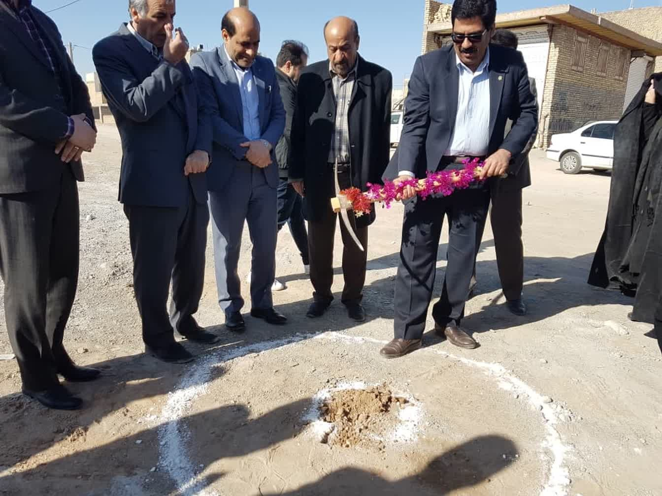 اداره کل نوسازی مدارس استان یزد - آغاز عملیات اجرائی ساخت آموزشگاه 12 کلاسه مرحوم حاجی زاده