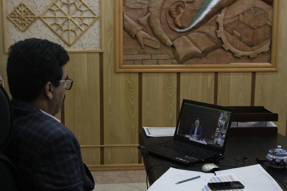 اداره کل نوسازی مدارس استان یزد - وزیر آموزش و پرورش با مدیران نوسازی کشور بصورت ویدئو کنفرانس دیدار نوروزی برگزار نمود