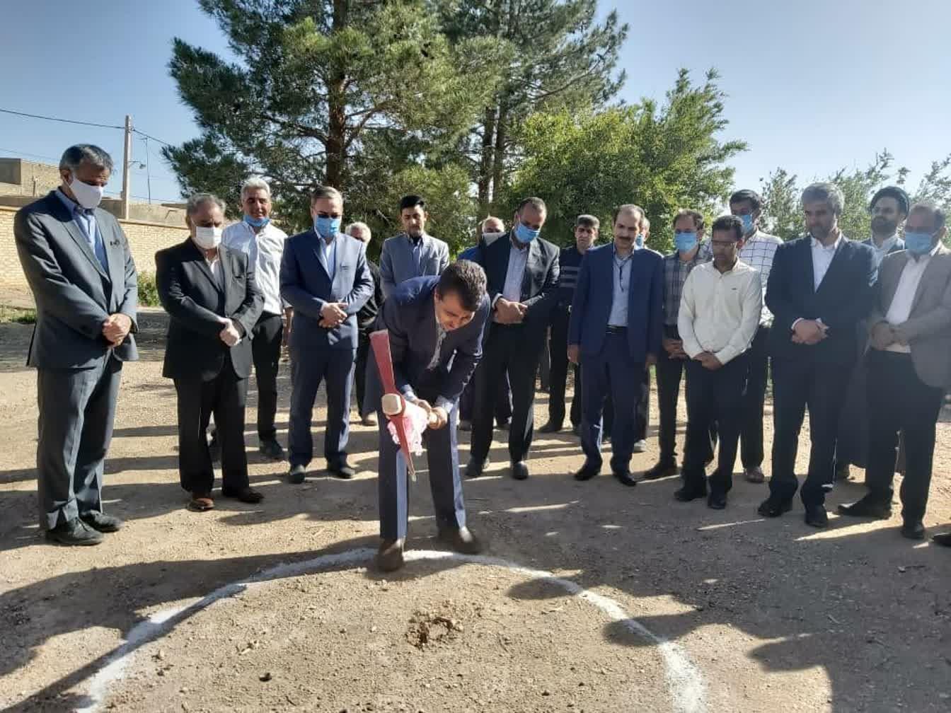 اداره کل نوسازی مدارس استان یزد - آغاز عملیات اجرائی آموزشگاه 9کلاسه خیری بلالی در مهریز