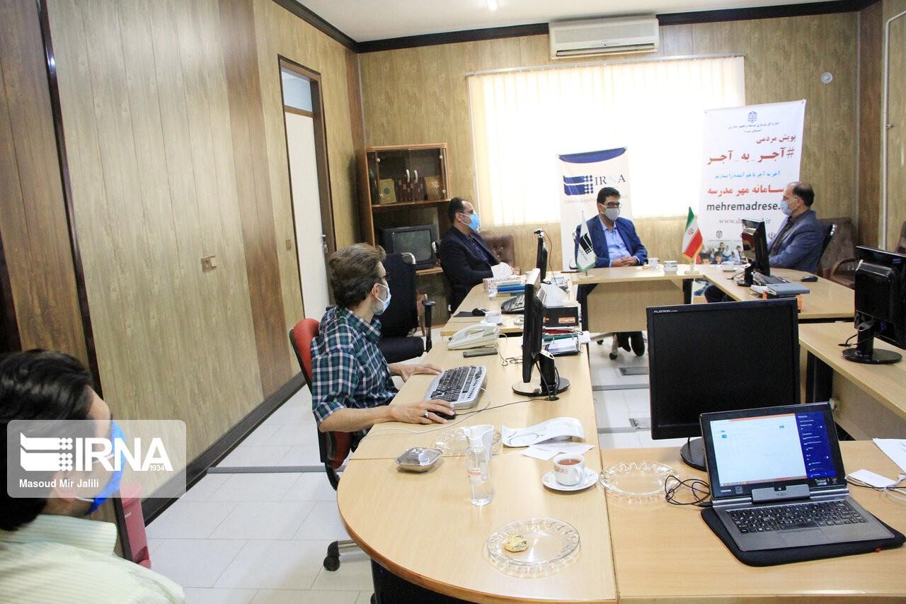 اداره کل نوسازی مدارس استان یزد - در دیدار مهندس ذاکر با رئیس خبرگزاری ایرنا در یزد توافق شد؛
