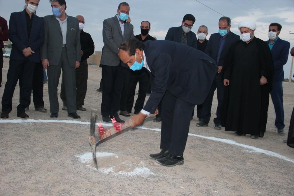 اداره کل نوسازی مدارس استان یزد - اغاز عملیات اجرائی دو مدرسه خیری در شهرستان ابرکوه یزد