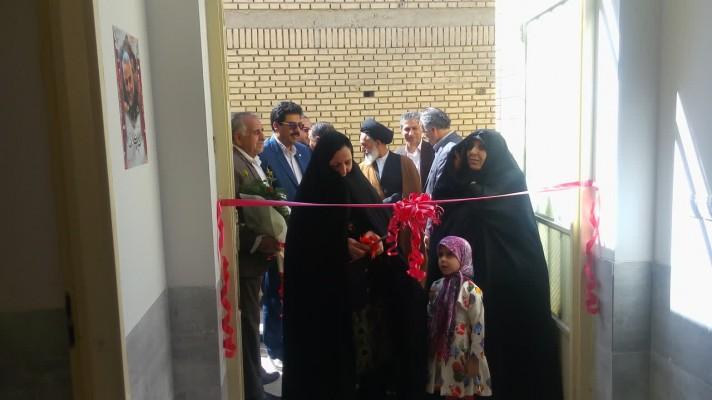 افتتاح مدرسه دو کلاسه استثنایی رقیه دهقانی مروست