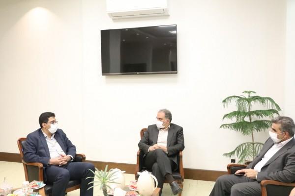 دیدار مدیرکل نوسازی مدارس استان یزد با شهردار در راستای طرح آجر به آجر برای همکاری بیشتر