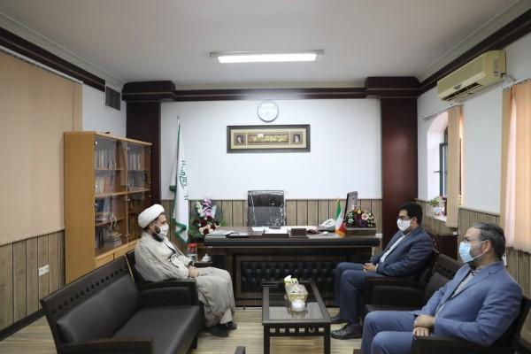 دیدار  مهندس ذاکر با مدیر کل تبلیغات اسلامی استان یزد در راستای بسته تحولی اجرایی طرح «آجر به آجر»