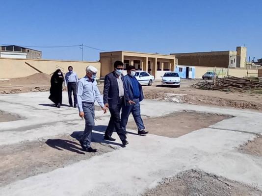 بازدید از پروژه های در حال احداث شهرستان های بافق و بهاباد