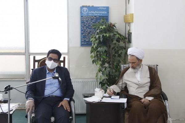 حضور مدیر کل اداره کل نوسازی یزد در جلسه شورای آموزش و پرورش میبد